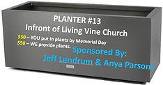 Planter #13 - Jeff Lendrum & Anya Parson