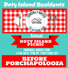 Doty Island Picnic - Thursday!