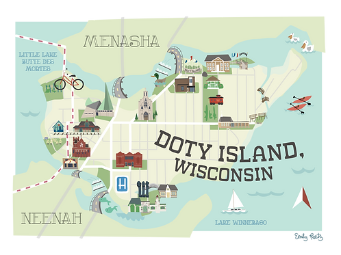Doty Island Notecards - 10 pack