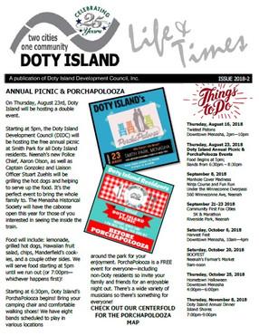 Newest Doty Island Newsletter