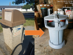 New Disposal Cans for Doty Island