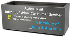 Planter #6 - In Memory of John and Ann S