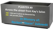 Planter #9 - Memory of Norbert Zoltowski
