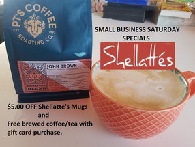 Shellattés Deals! Saturday Only