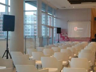 Evento Corporativo com a marca da Lanzelotti Produções & Equipamentos!