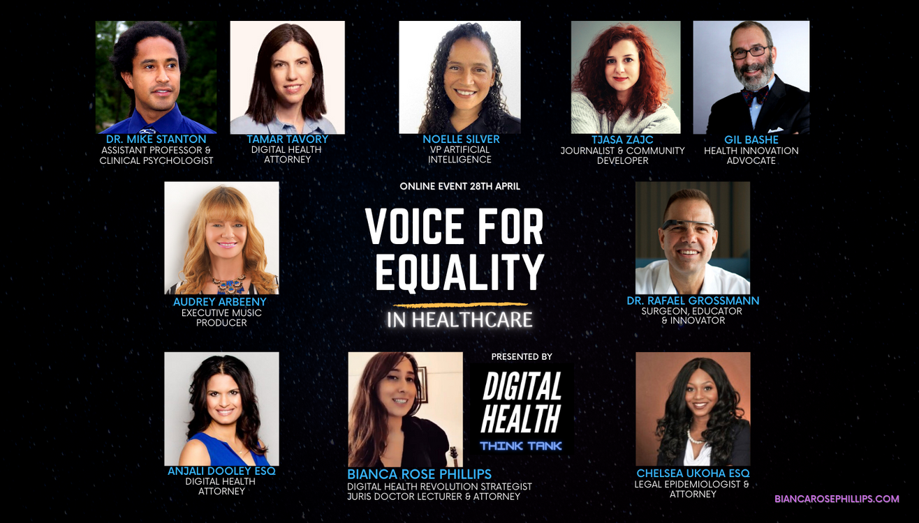 Voice For Equality in Healthcare Poster.