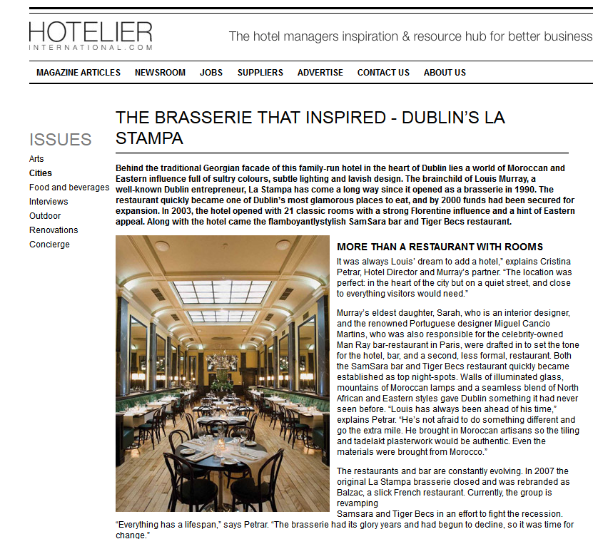 The Brasserie that Inspired