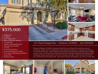 Just Listed in Henderson Gated Community