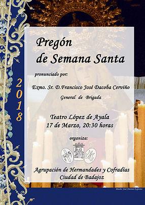 Pregón de Semana Santa en Badajoz