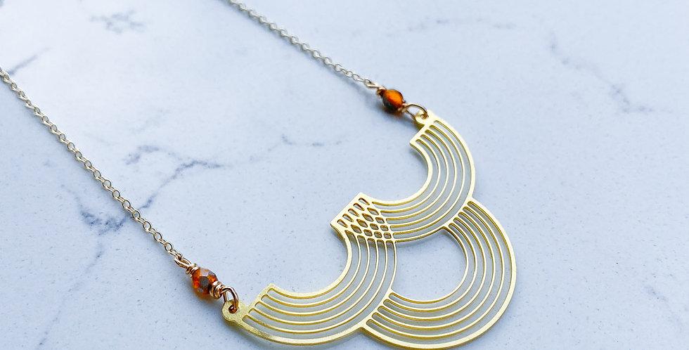 Dainty Deco Wave Necklace