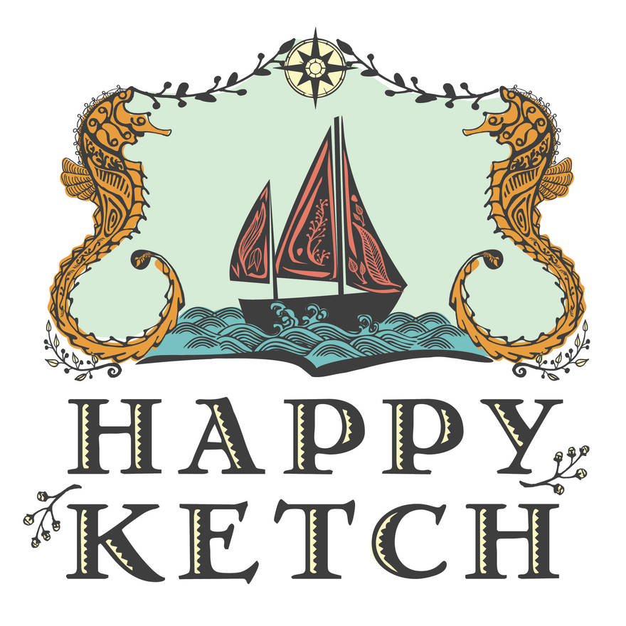 Happy Ketch Sailboat