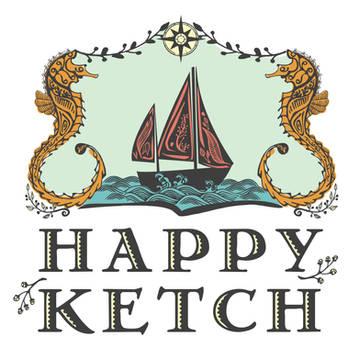 Happy Ketch Sailboat