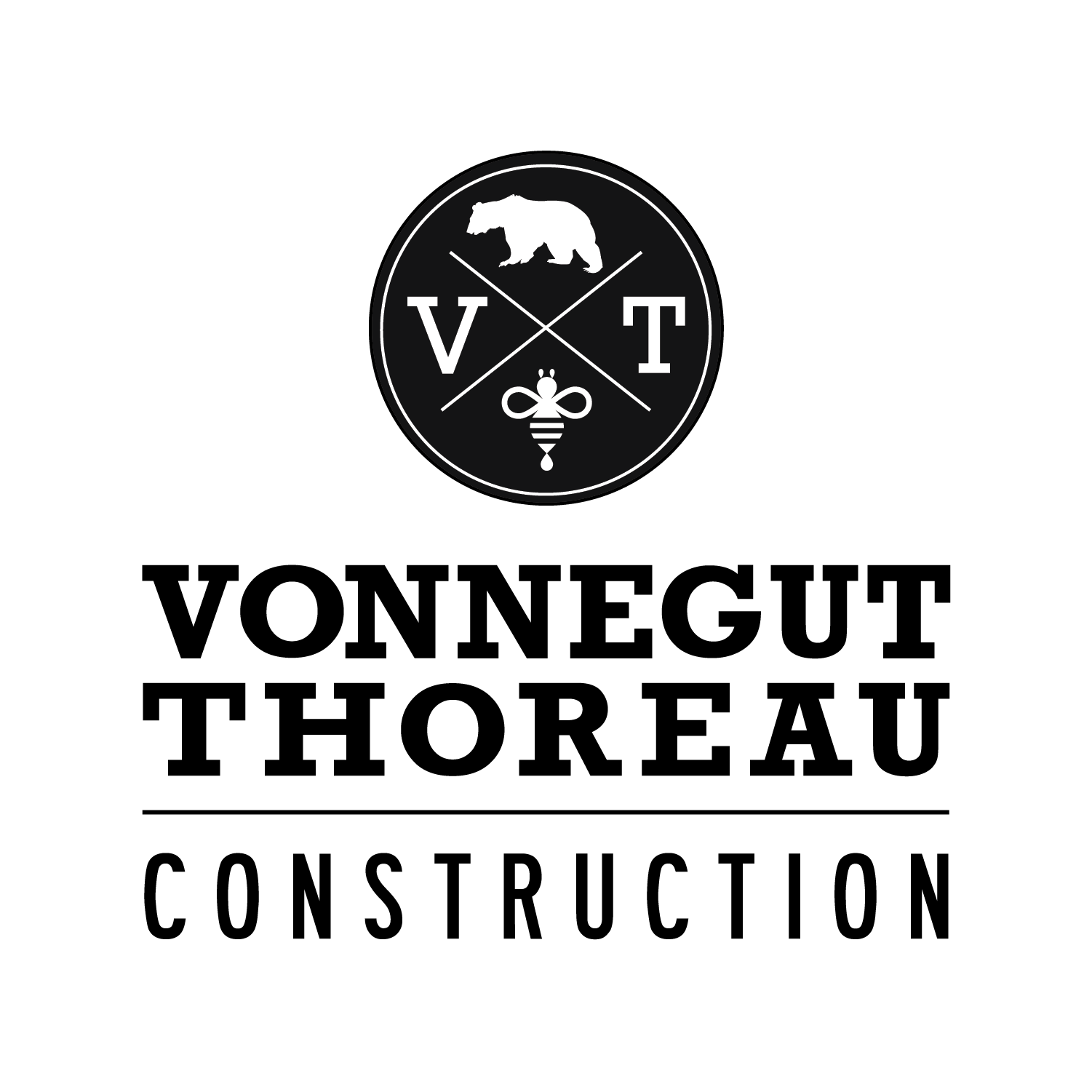 Vonnegut Thoreau_Full Logo Black and Whi