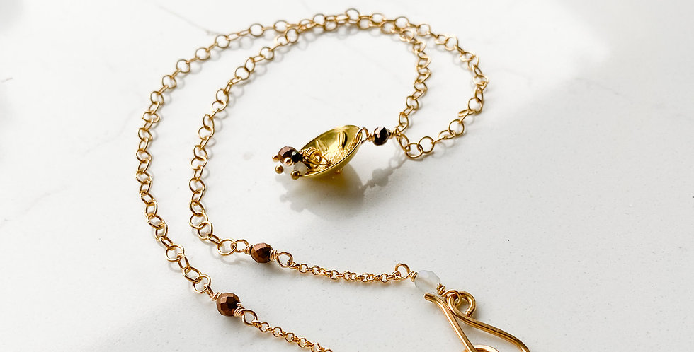 Diatom Cluster Cup Necklace #1