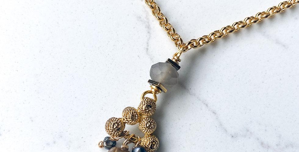 Pyramid Stack Vintage Necklace