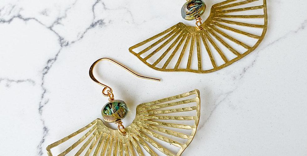Gill Fan Brass Earrings