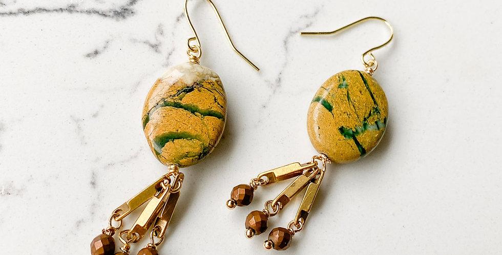 Canyon Jasper Tassel Earrings