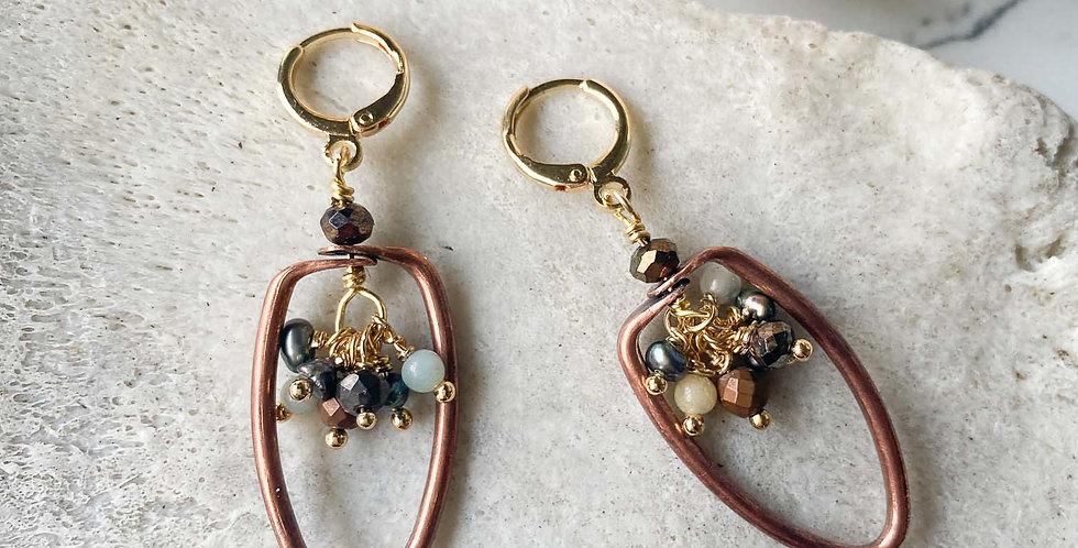 Copper Vessel Earrings