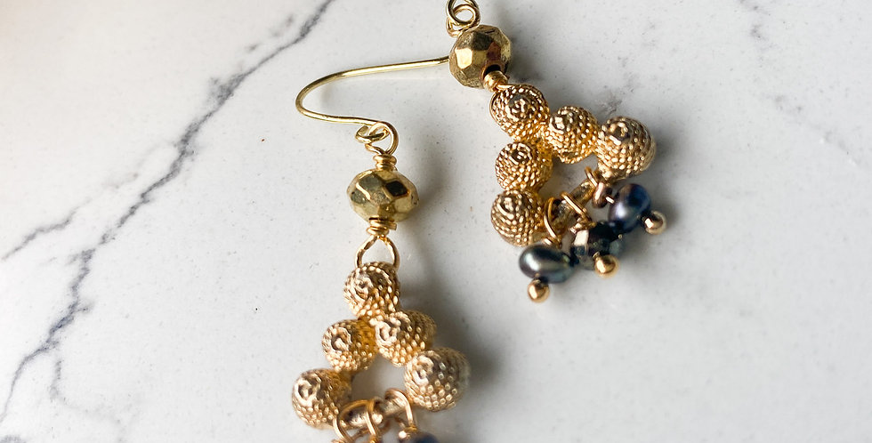Dainty Pyramid Earrings