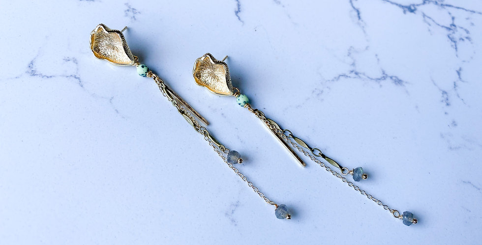 Mushroom Tassel Earrings