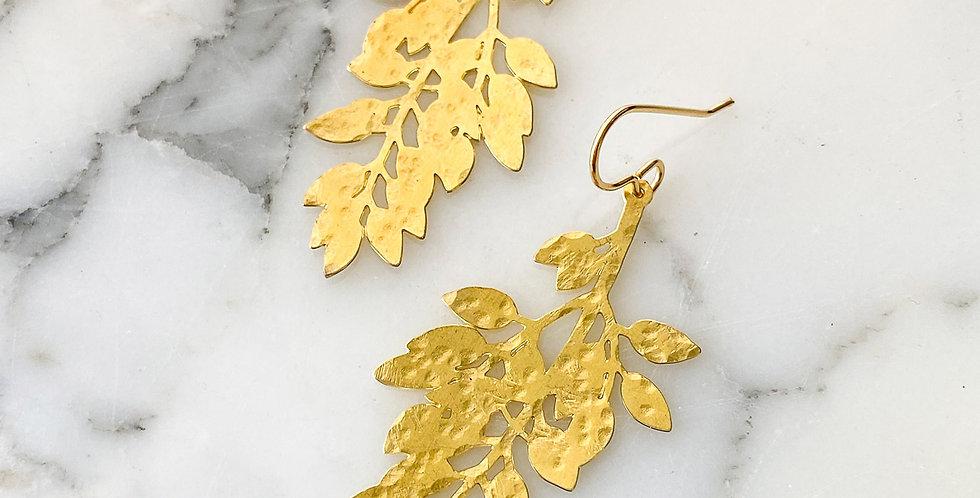 Brass Botanica Earrings