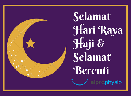 Selamat Hari Raya Haji & Selamat Bercuti.