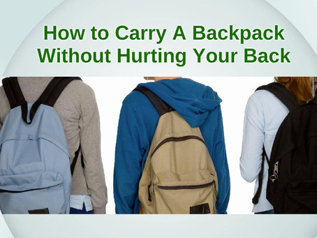 HOW TO CARRY A BACKPACK  AMONG STUDENTS.