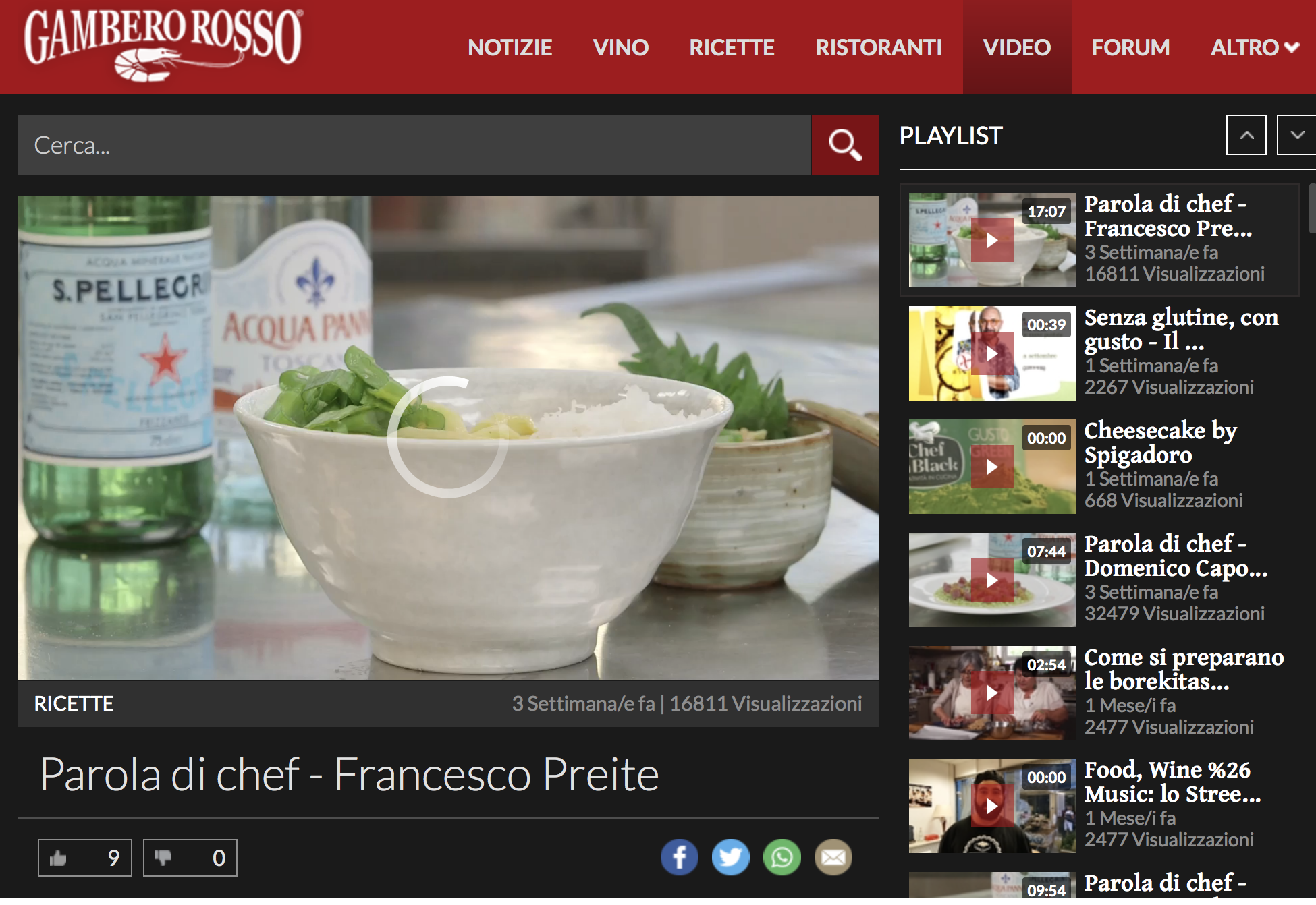 Gambero Rosso Web tv project