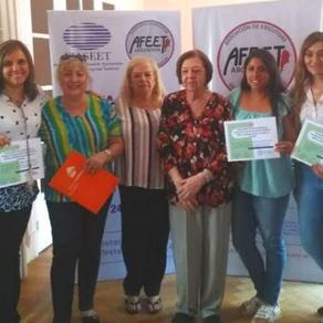 #AFEETArgentina entrega certificados del curso Formadores en la Protección de ESCNNA.