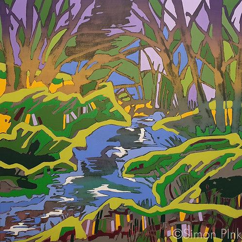 Devon Falls - limited edition giclée print 50cm x 50cm