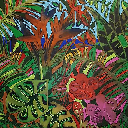 Tropical Paradise - limited edition giclée print 50cm x 50cm