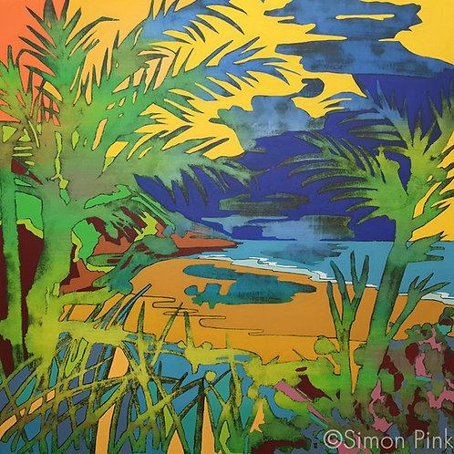 Praia do Leste - limited edition giclée print 50cm x 50cm