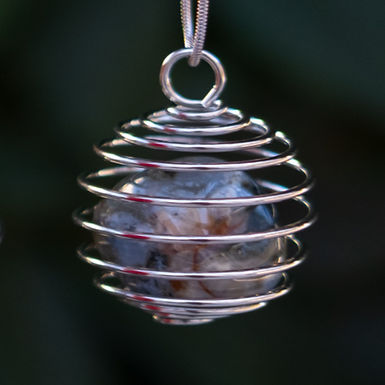 Ocean Jasper Spiral Necklace