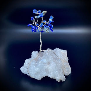 Lapis Lazuli Quartz Crystal Tree