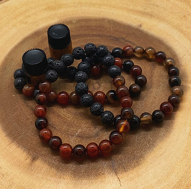 Red-Brown Agate Aromatherapy Bracelet