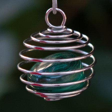 Malachite Spiral Necklace