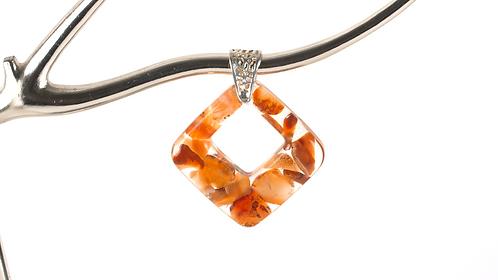 Carnelian Diamond Necklace