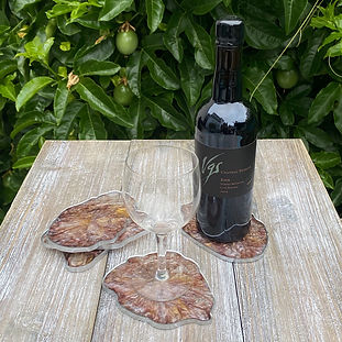 Handmade Geode Coasters (Resin) - Purple/Silver