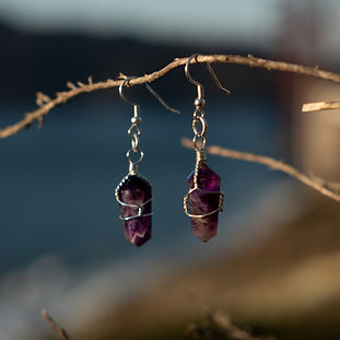 Double Terminated Quartz Earrings