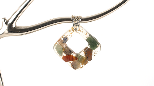Mixed Gemstone Diamond Necklace