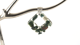 Bloodstone Diamond Necklace