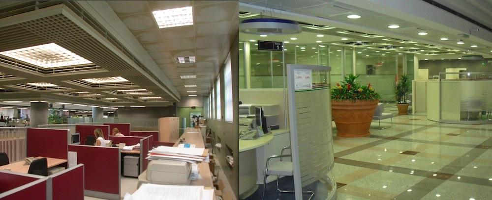 BPN  Via Negroni. 11 - Ristrutturazione ed allestimento Banca Popolare di Novara (Prima e Dopo)