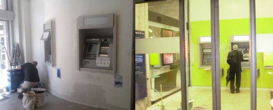 Cariparma - Ristrutturazione area self Torino - Varie sedi (Prima e Dopo)