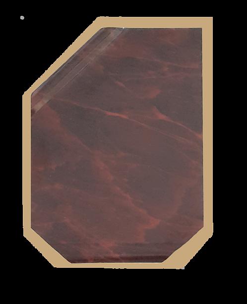 Placa Continental mármol vino