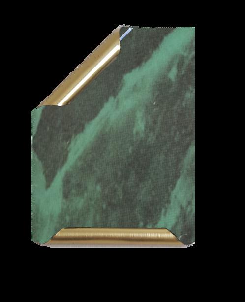 Placa Manuscrito latonado mármol verde