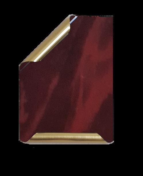 Placa Manuscrito latonado mármol vino