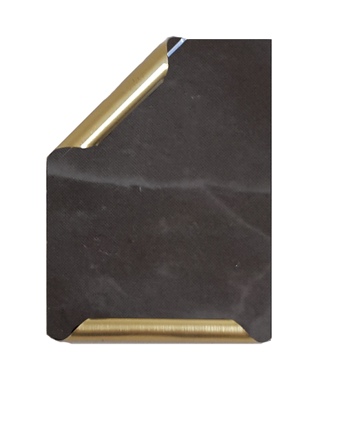 Placa Manuscrito latonado mármol gris