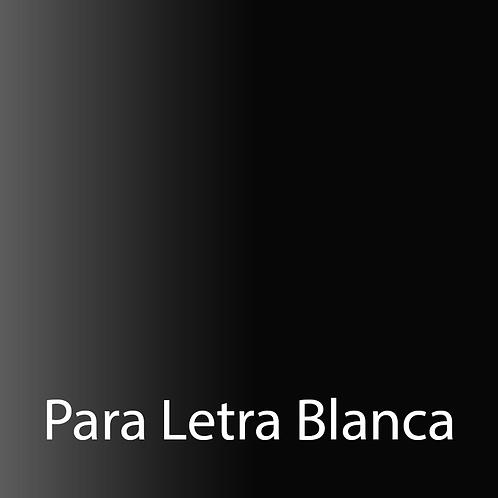 A. E. Negro brillante/blanco
