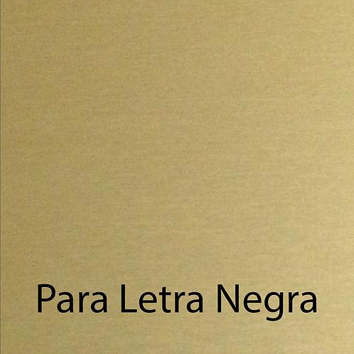 A. E. Oro satín/negro