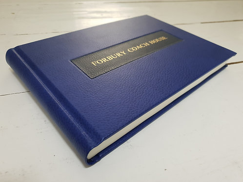 Bonded Leather Personalised Visitor's Book